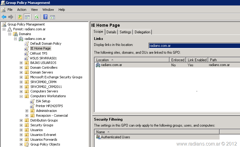 RaDians com ar » Definir una Home Page via Group Policy {HowTo}