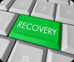 Recovery Key on Computer Keyboard